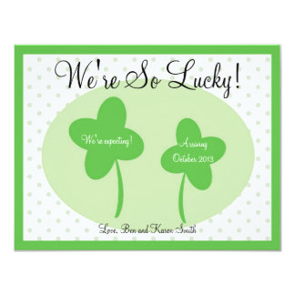 St Patricks Day Pregnancy Announcement / Lucky