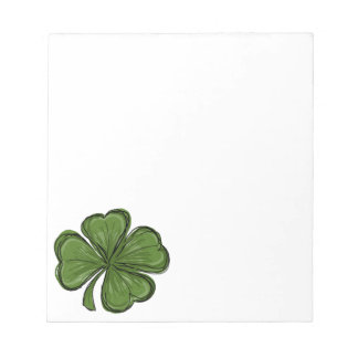 St Patrick's Day Shamrock Notepad