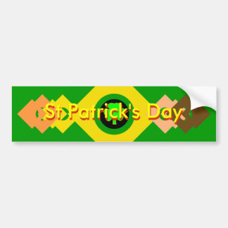 St Patrick's Day UCreate Templates Car Bumper Sticker