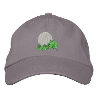 St. Patricks Golf Design Embroidered Cap