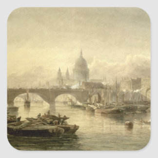 St. Paul's Cathedral and London Bridge from the Su Square Sticker