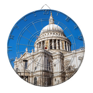 St Paul's Cathedral London with blue sky Dartboard