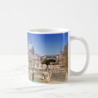 St. Peter's Basilica And Ponte Sant Angelo Coffee Mug