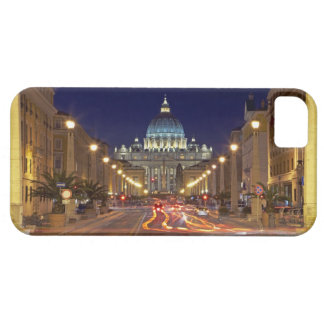 St Peter's Basilica toward end of road at night iPhone 5 Cover