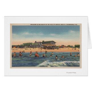 St. Petersburg, FL - View of Treasure Island Greeting Card