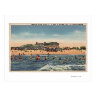St. Petersburg, FL - View of Treasure Island Postcard