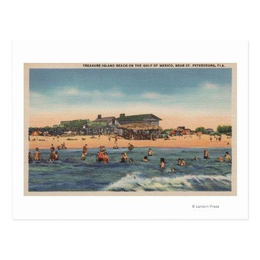 St. Petersburg, FL - View of Treasure Island Post Card