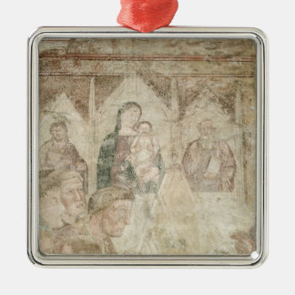 St. Ranieri Praying in the Temple Christmas Ornament
