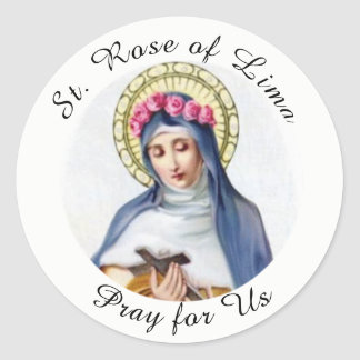 St. Rose of Lima Classic Round Sticker