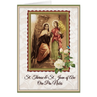 St. Therese & St. Joan of Arc Greeting Card