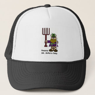 St. Urho with One Grasshopper on his hat  Hat