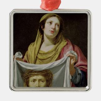 St. Veronica Holding the Holy Shroud Christmas Ornament