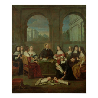 St. Vincent de Paul and the Sisters of Charity Print