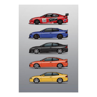 Stack of Holden Monaros Poster