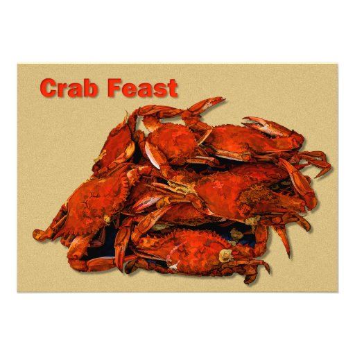 Stack of Steamed Crabs Crab Feast Custom Announcement