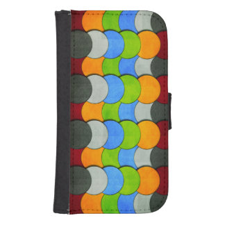 Stacked Circles-Textured by Shirley Taylor Samsung S4 Wallet Case