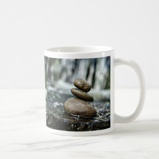Stacked Rocks with Waterfall Coffee Mug