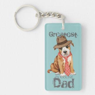 Staffordshire Bull Terrier Dad Key Ring
