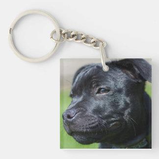 Staffordshire bull terrier key ring