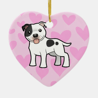 Staffordshire Bull Terrier Love (add your message) Christmas Ornament