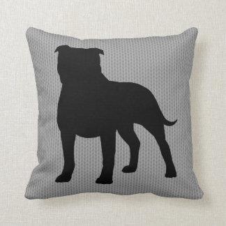 Staffordshire Bull Terrier Silhouette Cushion