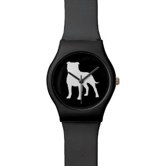 Staffordshire Bull Terrier Silhouette Watch