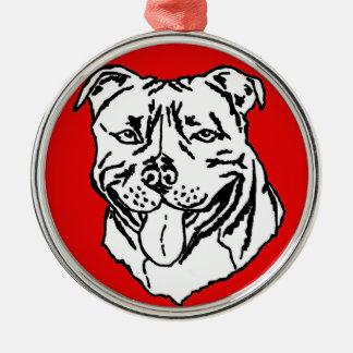 Staffordshire Bull Terrier STAFFY Christmas Ornament