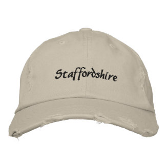 Staffordshire Terrier Embroidered Baseball Cap