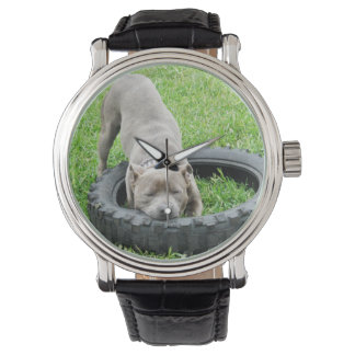 Staffordshire_Tyre_Play_Mens_Leather_Vintage_Watch Watches
