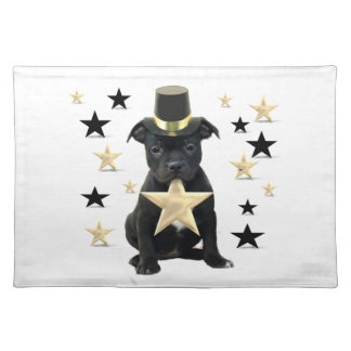 Stafforshire bull terrier puppy placemat