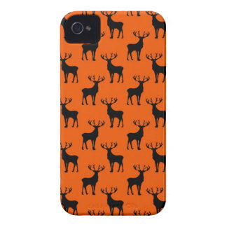 Stag Deer on Bright Orange iPhone 4 Case-Mate Case