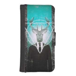 Stag in suit iPhone SE/5/5s wallet case