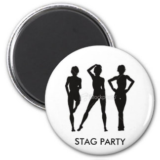 STAG PARTY Badge 6 Cm Round Magnet