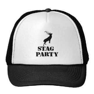 """Stag Party"" hats. Stag design Cap"