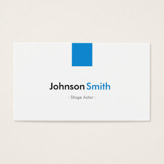 Stage Actor - Simple Aqua Blue Business Card