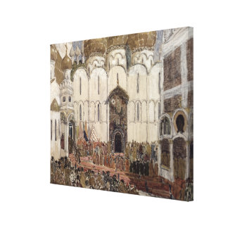 Stage design for Boris Godunov Canvas Print