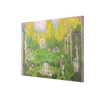Stage design for opera 'Orpheo ed Euridice' Canvas Print