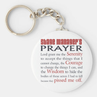 Stage Manager's Prayer Key Ring