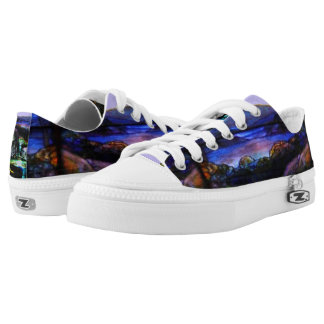 Stain Glass Nature Low Tops