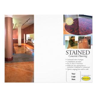 Stained Concrete Brochure 21.5 Cm X 28 Cm Flyer