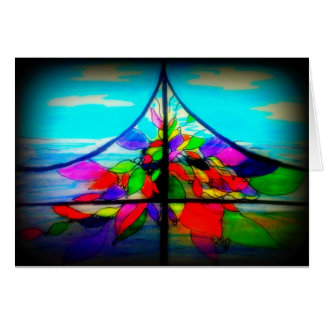 Stained glass at the Beach House in Cardiff Card
