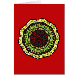 Stained Glass Business Christmas Card Template