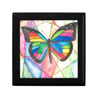 Stained Glass Butterfly Gift Box