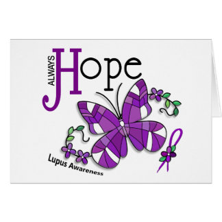 Stained Glass Butterfly Lupus Card