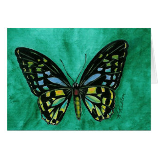 Stained Glass Butterfly Notecard Note Card