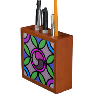 Stained Glass Desk Organiser