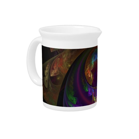 Stained Glass Flames Sugar or Creamer Drink Pitcher