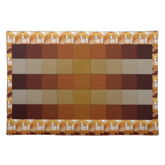 Stained Glass Gold Palace Picnic Placemat 10