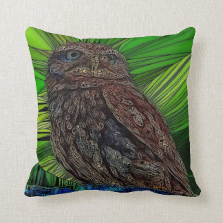 stained glass, owl cushion