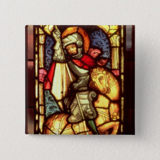 Stained Glass Window 15 Cm Square Badge